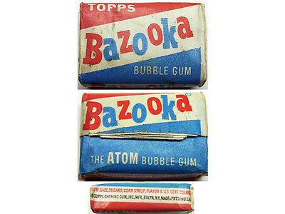 Rare 1958 Bazooka The Atom Bubble Gum Unopened Penny Example