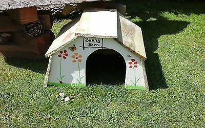 Rabbit house, bunny barn, pet safe, hutch, wooden, bedding