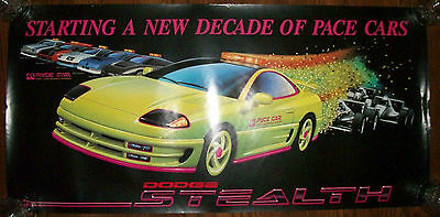 1991 Dodge Stealth THE PACE CAR THAT NEVER WAS Orig RARE Poster*FAST SHIP