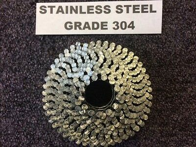 Stainless Steel Grade 304  2.1/50Mm Conical Wire  Coil Nail 360 Nails (1 X Coil)