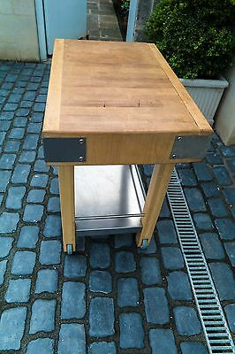 Butchers Block on stand, Maple