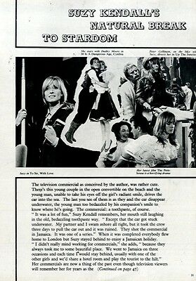 Suzy Kendall's Natural Break To Stardom Article & 16x11 Colour Pin Up Poster