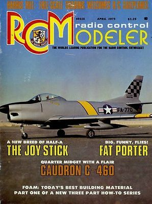 R/c Radio Control Modeller Magazine 1975 Apr Joy Stick, Fat Porter, Caudron C460