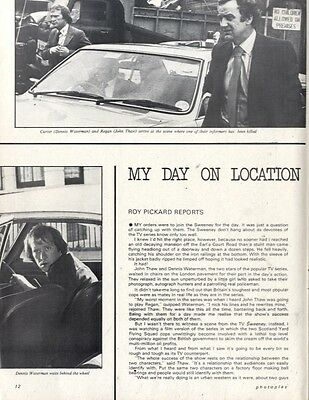 On Location With The Sweeney (John Thaw : Dennis Waterman) Article & Picture(S)