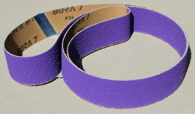2 x 72 Ceramic Purple  60 Grit Sanding Belt - High Performance Bora7 - 1 Belt