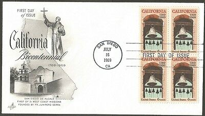 Us Fdc 1969 California Bicentennial 6C Stamps Ac First Day Of Issue Cover San D