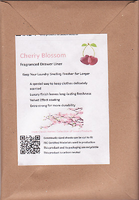 NEW!! Cherry Blossom Fragrance Scented Drawer Liners 5 Pack FREE P&P UK Seller