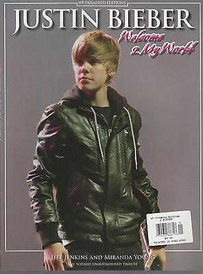 WP Diamond Edition Justin Bieber Welcome 2 To My World Oversized Photo Album NM