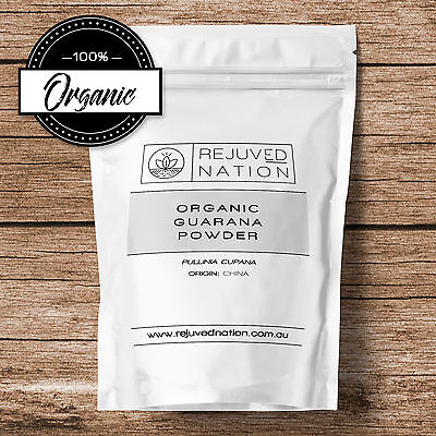 Organic Guarana Powder 50g, 100g - Gurana - ENERGY - CAFFEINE - Pre Workout