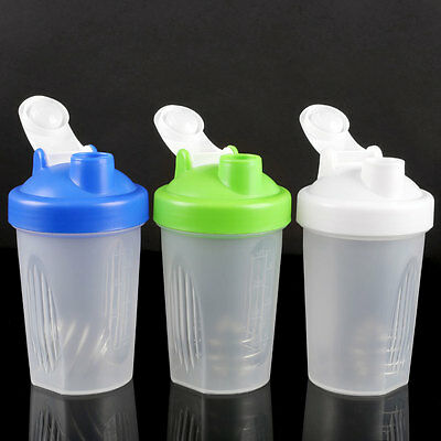 400ml Smart Shake Protein Shaker Mixer Cup Potable Whisk Bottle Sports Travel