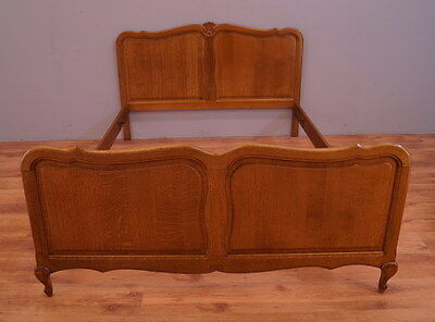 1693 !! Vintage Oak French Double Bed In Louis Xv Style !!
