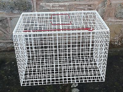 Extra Large Cat Pet Basket White Wire Mesh Plastic Coated Hygienic Manufacture