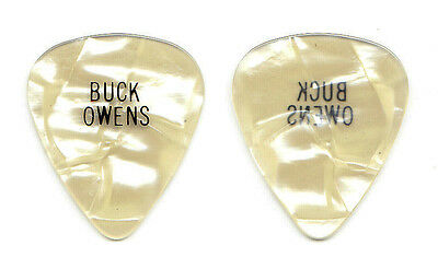 Vintage Buck Owens White Pearl Guitar Pick - 1970s Tours Hee Haw