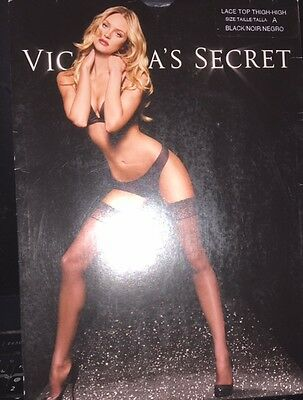 Nwt Victoria's Secret Lace Top Stay Up Thigh-High Stockings In White! Size A!
