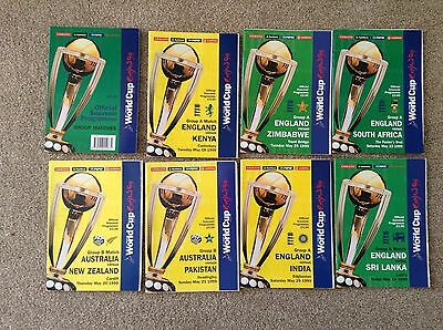All 21 Cricket World Cup programmes in England 1999