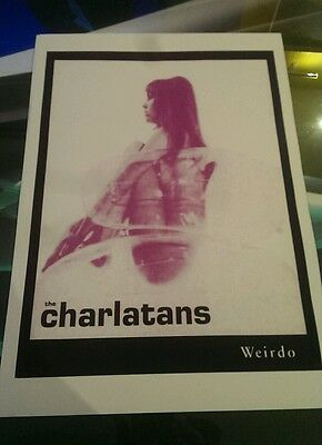 Charlatans weirdo rare promotional poster print A3 quality heavy canvas paper
