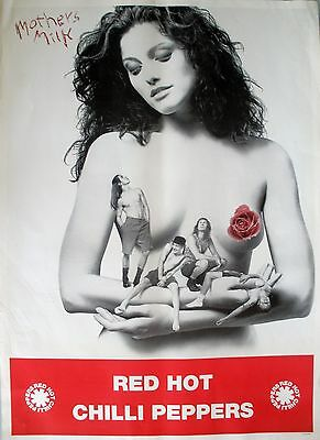 Red Hot Chili Peppers Mothers Milk 1989 Vintage Music Record Store Promo Poster