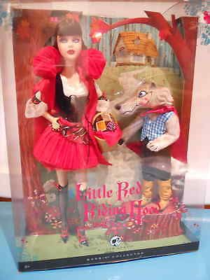 BARBIE LITTLE RED RIDING HOOD and the WOLF GIFTSET Silver Label 2008 NRFB