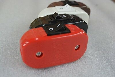 RED Cord Switch - w/ Strain Reliefs - UL Listed - Inline Lamp Cord Switch - NEW