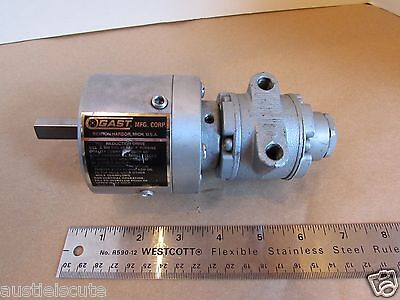 GAST 1UP-NRV-11-GR11 Pneumatic Air Motor 15:1 Gear Reduction Drive Made in USA