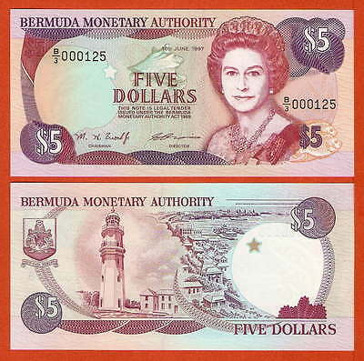 P41d    Bermuda  5 Dollar  1997  UNC  low Nr.