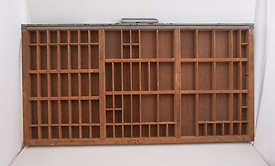 Gray Wood Printers Typeset Tray Drawer Hamilton 32x16 Shadowbox (#4 )