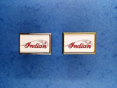 Indian Logo . Pins Rectangulaire Argenté ou Doré.