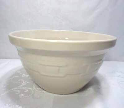 """Longaberger Woven Traditions Pottery Mixing Bowl 10"""" Micro/Oven/Dishwash Safe EX"""