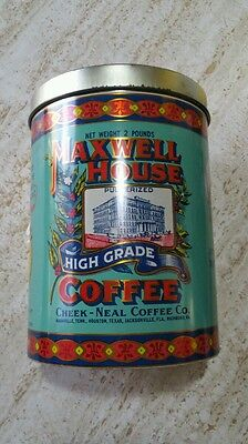 Vintage Maxwell House Coffee Can Tin 1979 General Mills Litho Cheinco