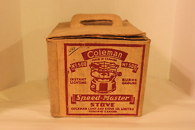 Coleman Canada Model 500 Seafoam Speedmaster Stove With Box February 1947