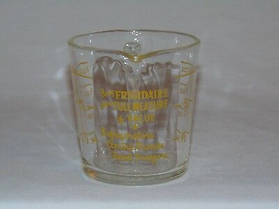 Vintage Very Rare Fire KIng Glass Advertising Measuring Cup Frigidaire