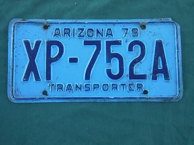 1979 Arizona Xp-752A Transporter License Plate Automobile Garage Garden Tavern