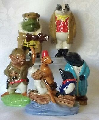 Set of six main Wind in the Willows character figures by Wade