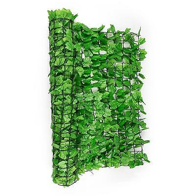 Privacy Wind Screen Light Green Plastic Ivy Leaves Fence Garden Railing Balcony