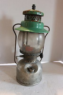 Coleman Canada Model 247 Scout Seafoam Nickel Kerosene Lantern Feb 1948 Untested