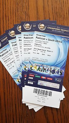 Pakistan Vs South Africa Cricket Match Gold Tickets 2 adults and 3 children
