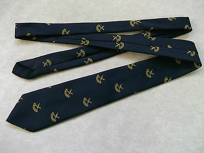 Vintage Navy Munday Golf Emblem Club Tie 1960's 70's + L.e.e.g.s. + Leegs Logo