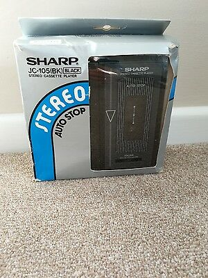 COMPLETE BOXED SHARP JC-105 personal cassette tape player walkman