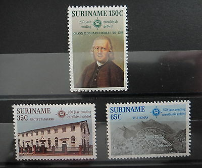 SURINAM 1982 - RELIGION MISSIONARIES - COMPLETE SET - MNH Stamps - r3b453