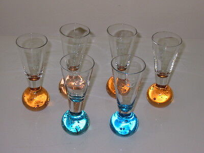 Royal Caribbean Cruise Line SHOT GLASSES ~Bubble  Base~ Collectable  lot of