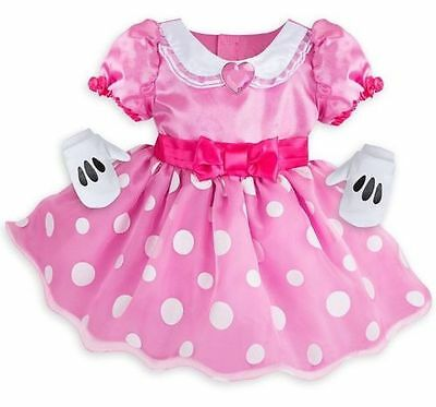 NWT Disney Store Baby Girl's Sz 12 18 24 M Pink Minnie Mouse Deluxe Costume