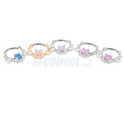316L Stainless Steel Flower Ring Lip Nose Eyebrow Belly Nipple Ear Cuff Ring