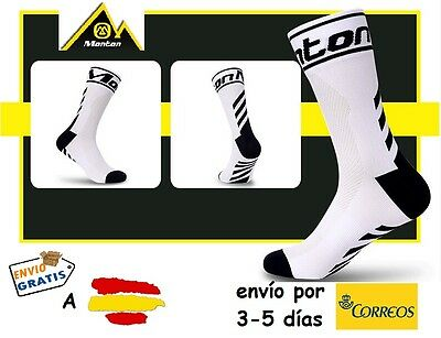 CALCETINES CICLISMO MONTON PRO CYCLING SOCKS, color Blanco