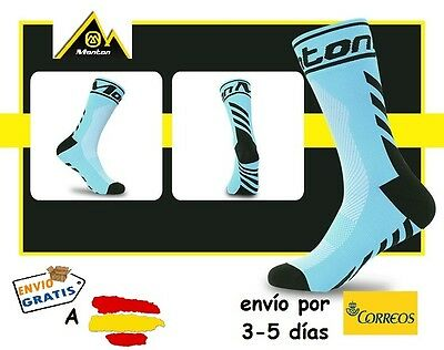 CALCETINES CICLISMO MONTON PRO CYCLING SOCKS, color Celeste