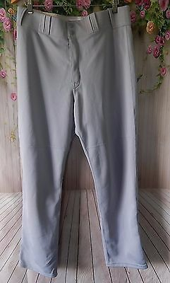 Mens ATHLETIC MAJESTIC APPAREL Baseball /  Softball Grey Pants SZ L