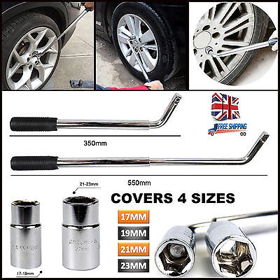 Heavy Duty  CAR Tyre Remover Extendable Wheel Brace 17 19 21& 23mm Socket Wrench