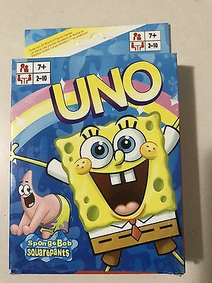 Sponge Bob uno CARDS Family Fun Playing Card Educational Theme Board Game