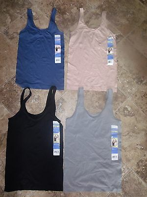 Nwt Womens Ellen Tracy Camisole Blue Gray Tan Black S M L Xl V-Neck Scoop Tank