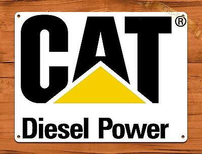 "TIN SIGN ""Cat Diesel"" Oil Heavy Equipment Garage Vintage Wall Decor"