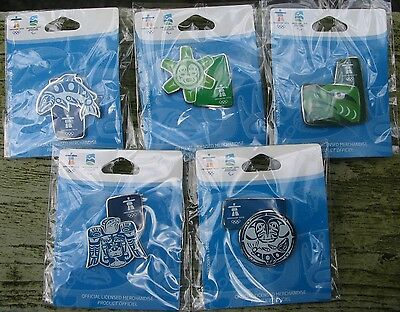 ABORIGINAL DESIGN SET 5 Pins AUTHENTIC Vancouver 2010 Winter Olympic PIN